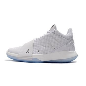 Jordan CP3.XI Triple White Chris Paul Men's Basketball Shoes
