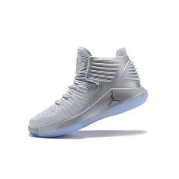 Men's Air Jordan 32 Pure Platinum Basketball Shoes AH3348-007