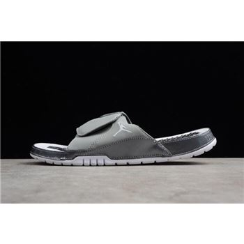 Men's Air Jordan Hydro 11 Retro Slide Medium Grey/White-Gunsmoke AA1336-004