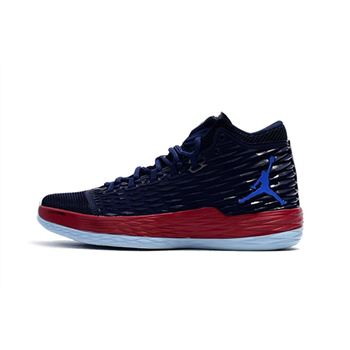 Carmelo Anthony's Jordan Melo M13 Knicks Midnight Navy/Gym Red-Blue For Sale