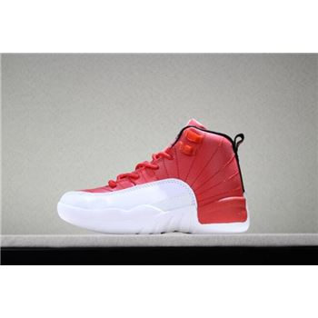 Kid's Air Jordan 12 Gym Red/Black-White Sale Free Shipping