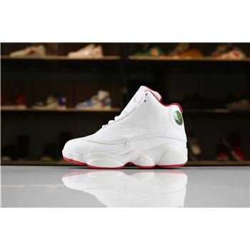 Kid's Air Jordan 13 History of Flight White/Metallic Silver-University Red