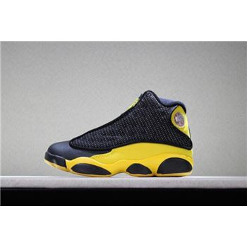 Kid's Air Jordan 13 Melo PE Black Yellow Basketball Shoes