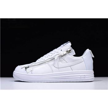 ACRONYM x Nike Lunar Force 1 Triple White AJ6247-100 Free Shipping