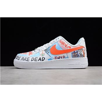 Custom Pauly x Vlone Pop Nike Air Force 1 Low Graffiti Harlem White