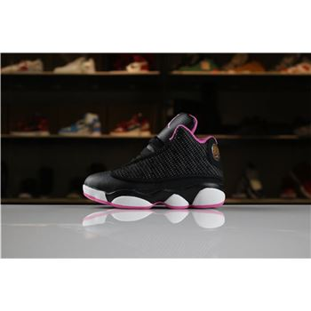 Kid's Air Jordan 13 Retro Black Pink For Sale
