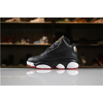 Kid's Air Jordan 13 Retro Playoffs Black/True Red-White For Sale