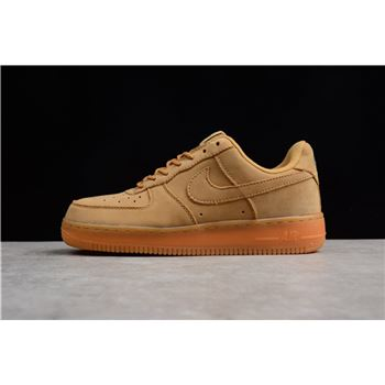 Latest Nike Mens and WMNS Air Force 1 Low Wheat Flax Flax