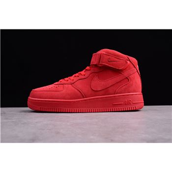 Mens and WMNS Nike Air Force 1 Mid Gym Red