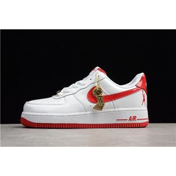 Mens and WMNS Nike Air Force 1 Retro CT16 QS White Red