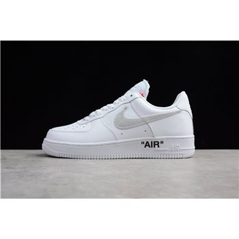 Mens and WMNS OFF WHITE x Nike Air Force 1 Low White Black Varsity Red