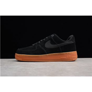 Mens and Womens Nike Air Force 1 07 SE Black Gum