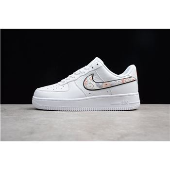 Mens and Womens Nike Air Force 1 LNY White Habanero Red
