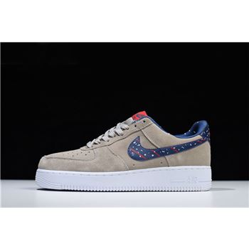 Mens and Womens Nike Air Force 1 Low Moon Landing Moon Particle Neutral Indigo