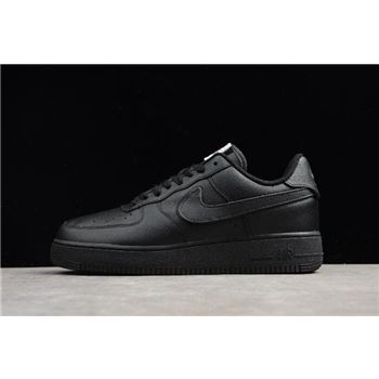 Men's and Women's Nike Air Force 1 Low Swoosh Pack Triple Black AH8462-002