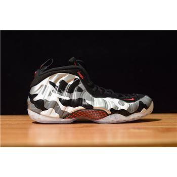 Nike Air Foamposite One PRM Fighter Jet Black Hyper Red Dark Grey White