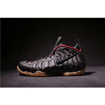 Nike Air Foamposite Pro Black/Gorge Green-Gym Red-Metallic Gold 624041-004