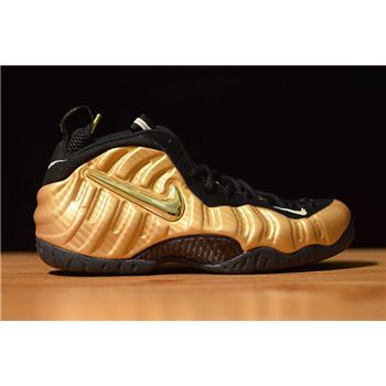 Nike Air Foamposite Pro Metallic Gold Black White