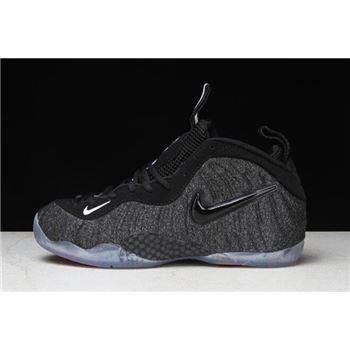 Nike Air Foamposite Pro Tech Fleece Dark Grey Heather/Black-Black 624041-007