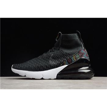 Nike Air Footsacpe Magsta Flyknit 270 Black Multi Color White