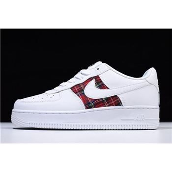 Nike Air Force 1 07 LV8 Flannel White Red