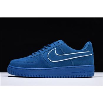 Nike Air Force 1 '07 LV8 Suede Blue White AA1117-400