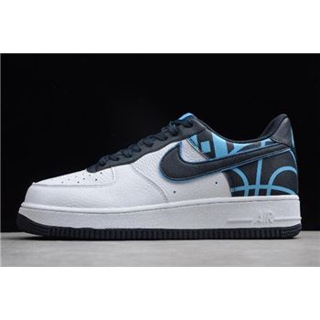 Nike Air Force 1 07 LV8 White Dark Obsidian