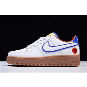 Nike Air Force 1 07 LV8 Wonder Bread White Red Brown