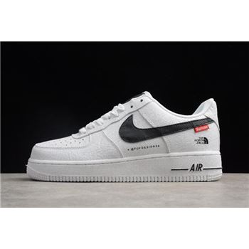 Nike Air Force 1 07 x Supreme x The North Face White Black