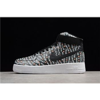 Nike Air Force 1 High Just Don Black White Orange