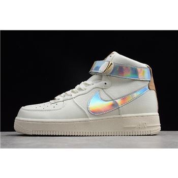 Nike Air Force 1 High QS YH 18 Sail Metallic Silver
