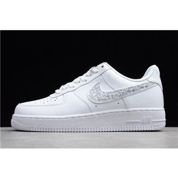 Nike Air Force 1 LV8 Just Do It White Black Total Orange