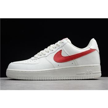 Nike Air Force 1 Low 07 Sail University Red