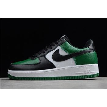 Nike Air Force 1 Low Black-White/Pine Green Men's Size 315112-302