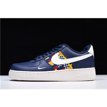 Nike Air Force 1 Low Nautical Redux Navy/White-Yellow AR5394-400 Free Shipping