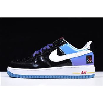 Nike Air Force 1 Low Playstation Black Blue White Purple Varsity Red