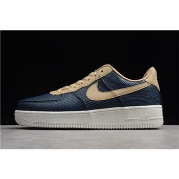 Nike Air Force 1 Low Snakeskin Dark Blue Khaki