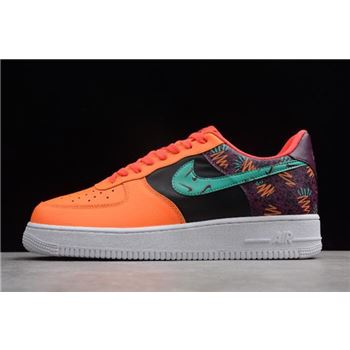 Nike Air Force 1 Low What The 90s Bordeaux Hyper Jade Total Orange Black