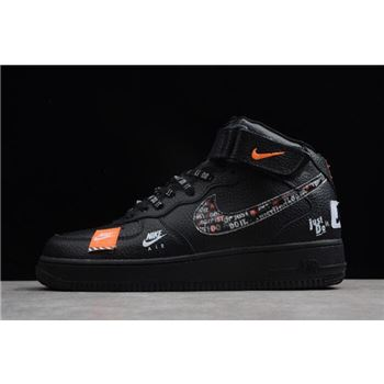 Nike Air Force 1 Mid Just Do It Black Total Orange White