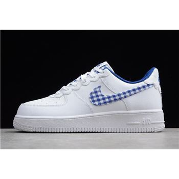 Nike Air Force 1 QS Gingham Pack White/Indigo Force AV6232-100