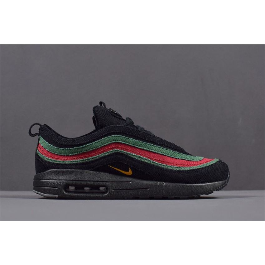 Mens And WMNS Nike Air Max 197 VF SW Black Green Red AJ4219