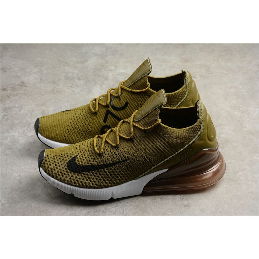 2018 shoes well known new release Nike Air Max 270 Flyknit Olive Flak Army Green/Black-Coffee White ...