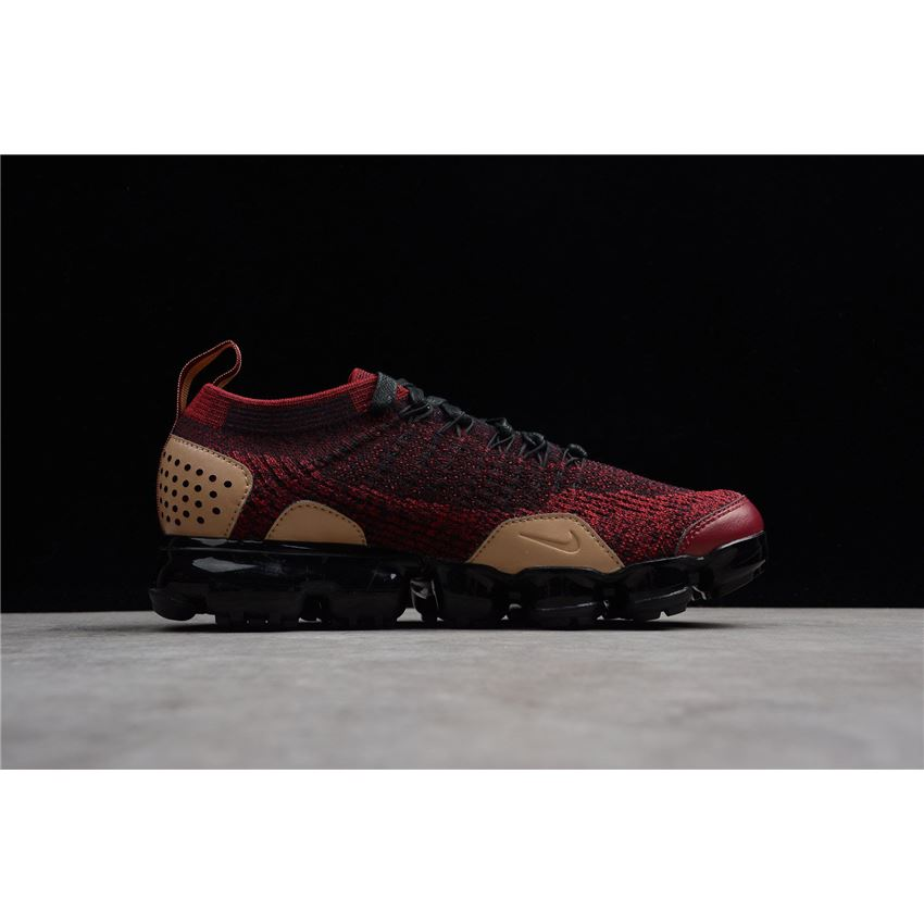 d2407f9325224 Nike Air VaporMax Flyknit 2 NRG Team Red Black-Vachetta Tan AT8955 ...