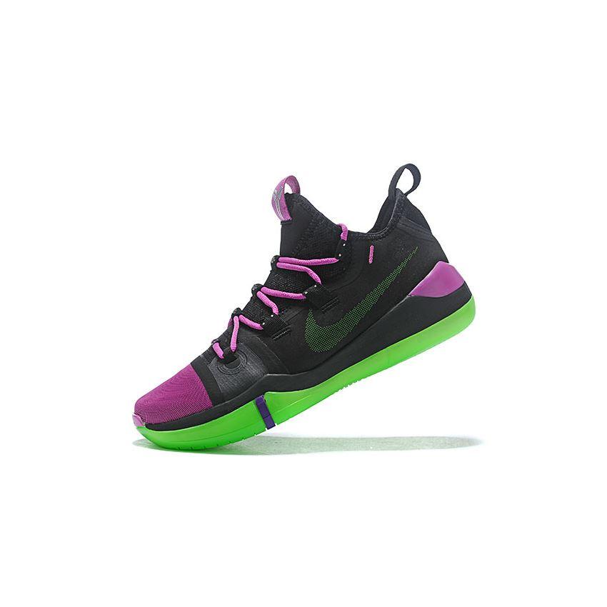 Newest Nike Kobe AD Black/Purple-Green, New Nike Shoes