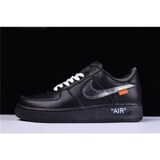 2018 Off White x MoMA x Nike Air Force 1 Low BlackMetallic