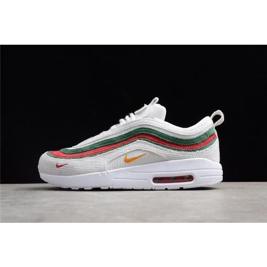 Articulación Fracaso Monet  Men's and Women's Nike Air Max 1/97 VF SW White/Red-Green AJ4219-163, Nike  Shoes 2019, Nike Store