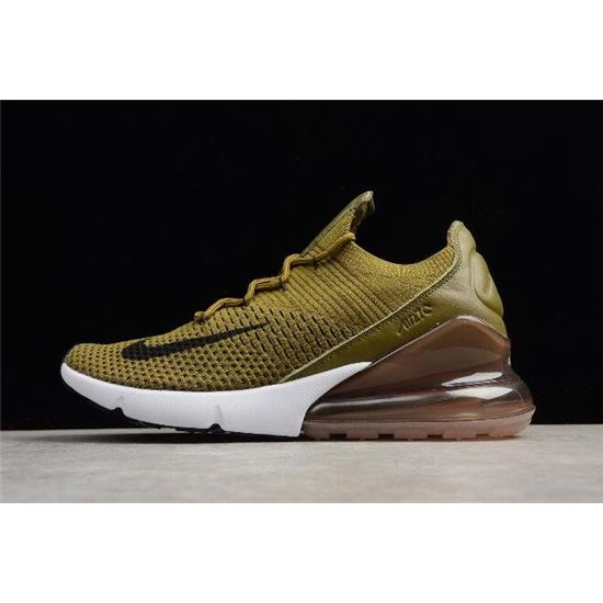 Nike Women's Air Max 270 Flyknit OliveArmy GreenBlack Shoes