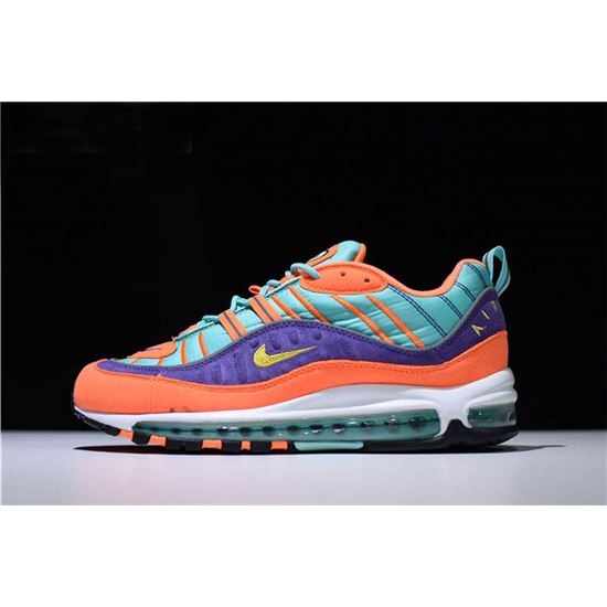 Men's and Women's Nike Air Max 98 QS ConeTour Yellow Hyper