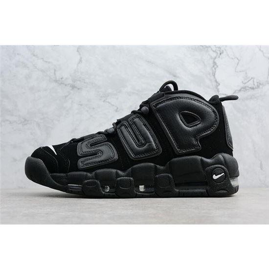 Supreme x Nike Air More Uptempo BlackBlack White Men's Size
