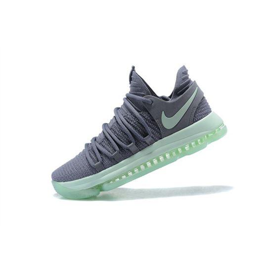 Men's Nike KD 10 Igloo Cool Grey/Igloo-White Basketball Shoes 897816-002,  New Nike Shoes, Nike Store